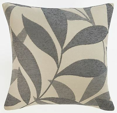 """Congo Silver / Grey Luxury Chenille Cushion Cover 18"""" £5.95 Each Free Postage"""