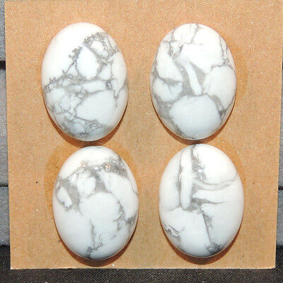 Howlite Cabochons 13x18mm with 6.5mm dome set of 4  (12133)