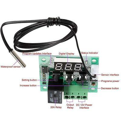 Digital LCD Thermostat Regulator Temperature Thermocouple Controller P^