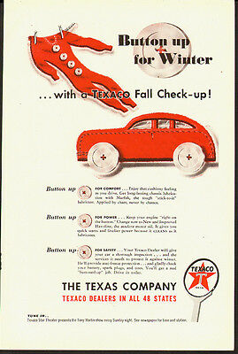1947 Vintage ad for The Texas Company`Fall Check-up (041014)