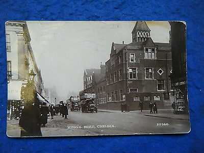 Chelsea, London: King's Road - Scarce Early Real Photo Postcard!