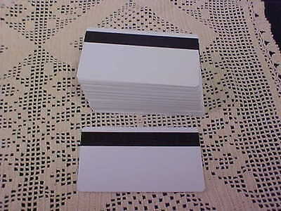 "99 CR80 30Mil Blank White PVC Plastic Credit Gift Photo ID Cards 1/2"" 300 Lam"