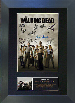THE WALKING DEAD Mounted Signed Photo Reproduction Autograph Print A4 330