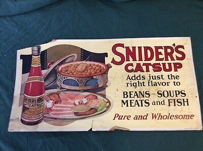 Vintage 1920s Snider's Catsup trolley advertising card
