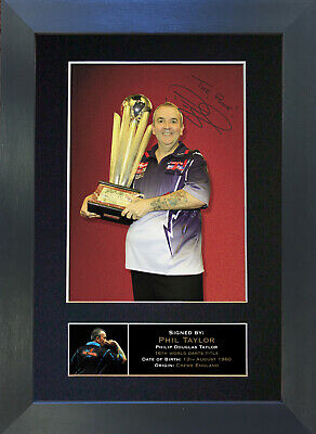 PHIL The Power TAYLOR Signed Mounted Autograph Photo Prints A4 299