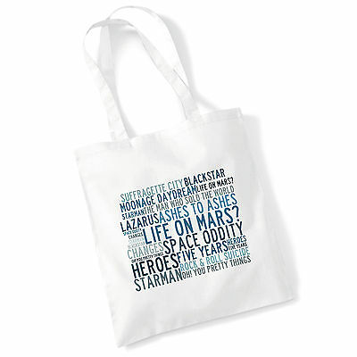 DAVID BOWIE SHH POSTER COOL SHOPPING CANVAS TOTE BAG IDEAL GIFT PRESENT