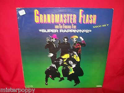 GRANDMASTER FLASH AND THE FURIOUS FIVE Super Rappin 2 MAXI 45 1984 FRANCE  MINT-