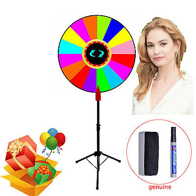 """24"""" Color Upgraded Editable Prize Wheel of Fortune Trade Show Tabletop Spin Game"""
