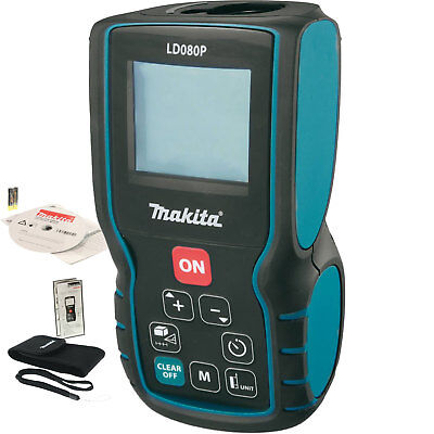 262' Battery Operated 635 nm Class II Laser Distance Measure Makita LD080P New
