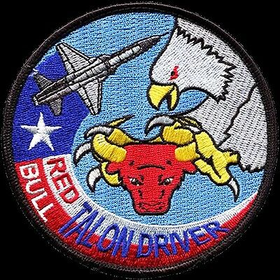 USAF 87th FLYING TRAINING SQUADRON -RED BULL- TALON DRIVER - ORIGINAL PATCH