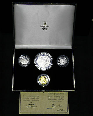 1988 Seoul Olympics LIMITED Edition Gold, Platinum, Palladium, Silver 4 Coin Set
