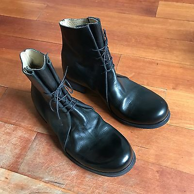 reputable site 1c70b 418cf M.A+ MAURIZIO AMADEI Black Horse Leather Ankle Boots [42] [Us 9] Bnib