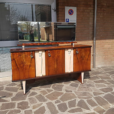Rare Original Italian Art Deco Sideboard  Walnut Veneered From 1930