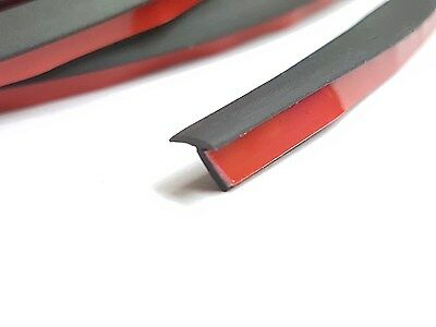 Rubber Edge Strip T Section for Over Fenders Body Kits Side Skirts Lips Spoilers