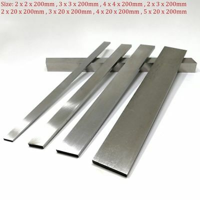 1Pcs HSS Steel Flat Square Bar Strip Length 200mm Mould Making Choose Sizes