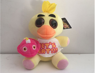 """10"""" Hot FNAF Five Nights at Freddy's Collector Chica Plush Doll Toy chicken"""