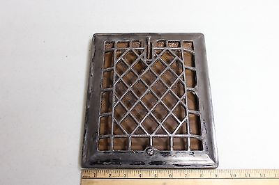 "Vintage used reclaimed cast iron 9"" X 11"" wall mount heat register grate"