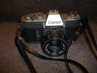 Canon EXEE QL 35mm Film Camera With EX 50mm f/1.8 Lens