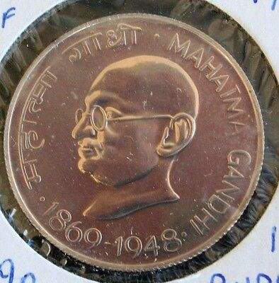 India 10 Rupees 1969 Ghandi Proof-Like Silver