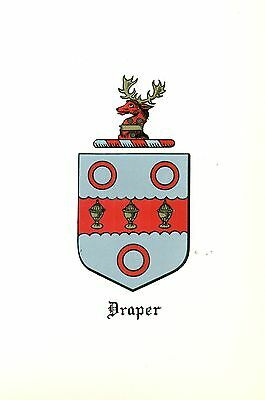 *Great Coat of Arms Draper Family Crest genealogy, would look great framed!