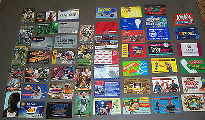 50 Collectible Phone & Gift Cards.  (Not Useable) 1996- Early 2000 s.