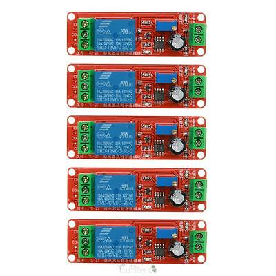 5pcs DC 12V LED Delay Relay Shield NE555 Timer Switch Adjustable Module