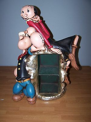 Popeye and Olive Spinach CD Holder Rack Statue Collectible VERY RARE