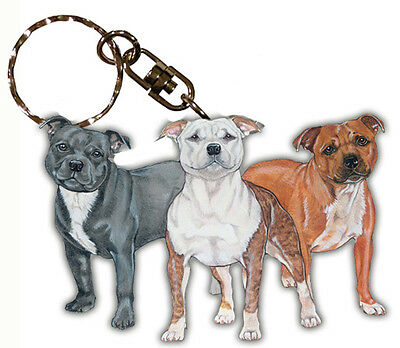 Staffordshire Bull Terrier Key Ring