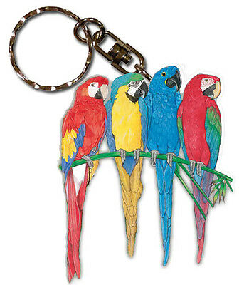 Macaw Key Ring