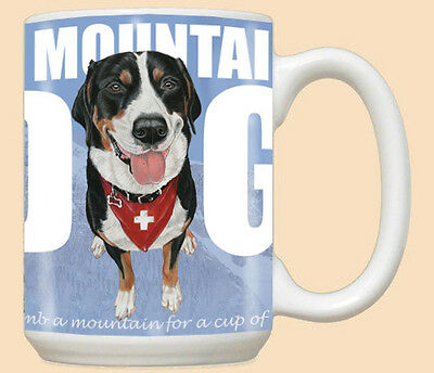 Greater Swiss Mountain Dog Ceramic Coffee Mug Tea Cup 15 oz