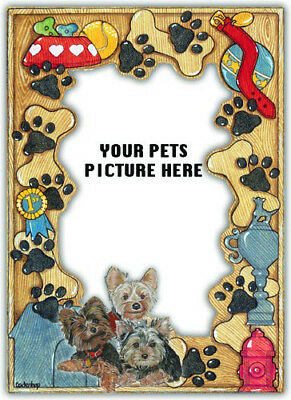 Yorkie Picture Frame
