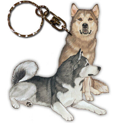 Alaskan Malamute Key Ring
