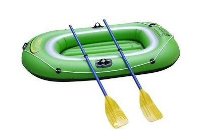 2 Two Man Person Inflatable Dinghy Complete With Oars BNIB Free Shipping