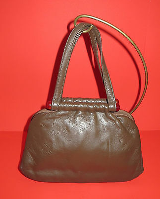Vintage INGBER Small Brown Leather Hand Bag Purse