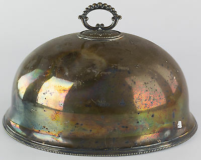Antique Silver Plate Meat Dome Marked