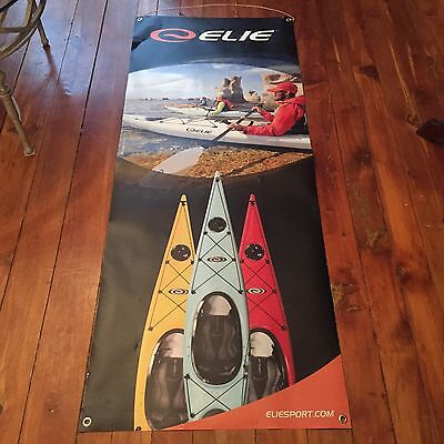 Elie Kayak Canoe Banner Store Advertisement Sign Sbl Sided Display 60 Inches Nr