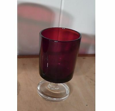 Ruby Red J.G. Durand Cristal D'Arques glassware 1 Oz stemmed glass Make an offer