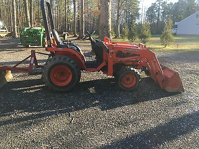 Kubota B7510 4x4 Tractor With Trailer, Loader, & 3 Point Hitch!!!