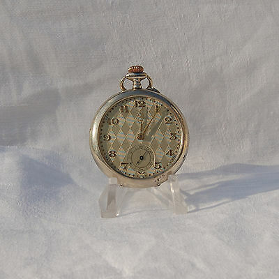 ART DECO - Antique Pocket Watch.  Swiss made.  Working condition.