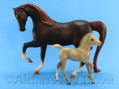Breyer Traditional Model Horse Toy - 3160 Proud Mare and Newborn Foal Set
