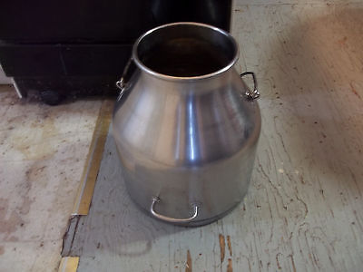 DeLaval Milking Can Bucket Pail Cow Goat Milk Stainless Steel Decor Planter