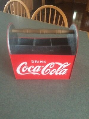 Coca Cola Vintage Metal 6 Pack Carrier Great Condition