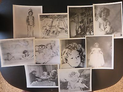 """Vintage Black & White Photos Shirley Temple 4"""" X 5"""" Lot Of 10"""
