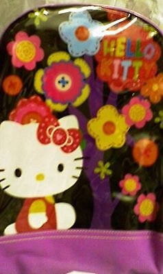 Hello Kitty Small Toddler Cloth Backpack Book Bag Pack - Purple
