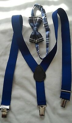 Boy's  bow tie and suspenders set - adjustable