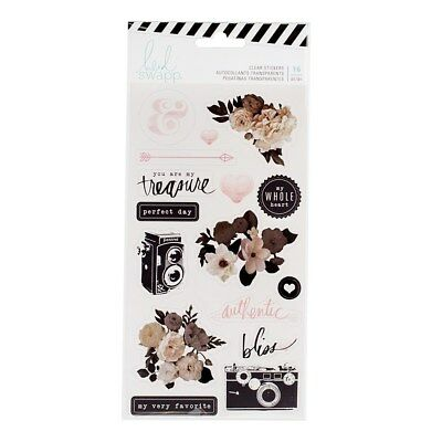 Heidi Swapp - Magnolia Jane Clear Stickers - NEW 2017 Floral Planner Decoration