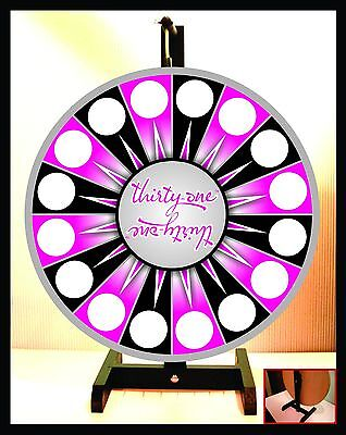 """Prize Wheel 18"""" Spinning Tabletop Portable Thirty-one 31"""