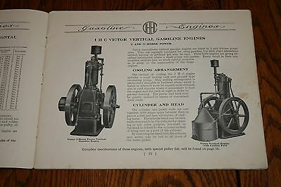 1910s International Harvester Gasoline Engines Advertising Sales Catalog