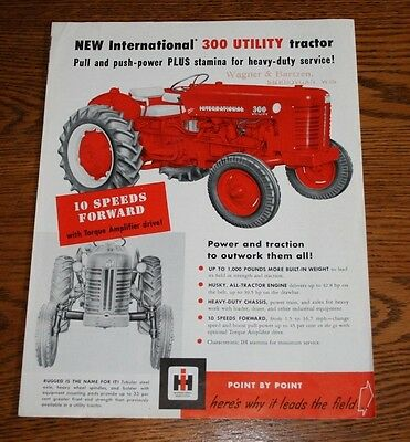International Harvester 300 Utility Tractor Advertising Sales Wagner & Bartzen W