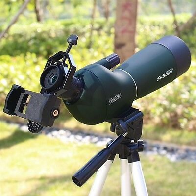 20-60x60mm Angled Zoom Spotting Scope Waterproof+Cell Phone Adapter New